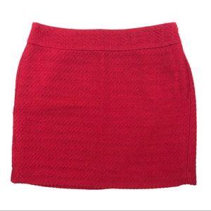 Banana Republic Red Textured Wool Blend Skirt